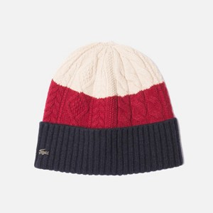 bonnet à motifs en laine et cachemire lacoste.com 50